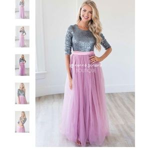 super cute sequin and tulle maxi dress